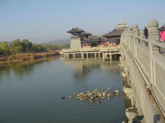 Datong, China: The brigde to the temple