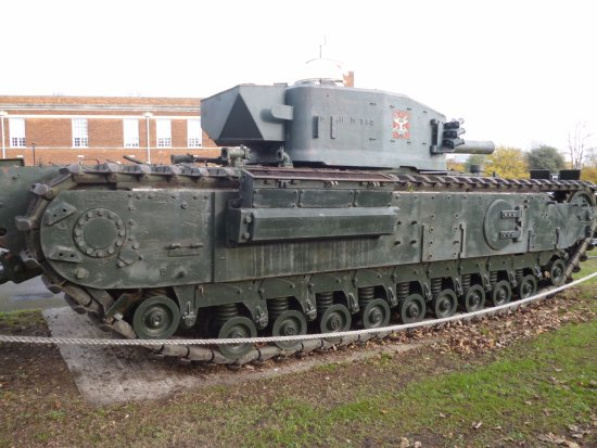 Gillingham, UK: Tank seen from outside of the museum