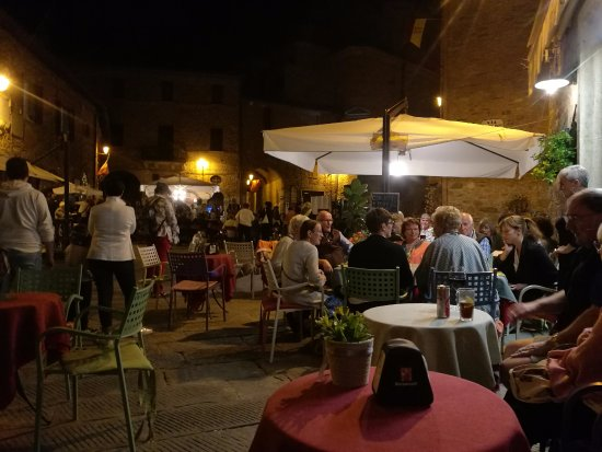 Panicale, Italy: One of the music nights at Aldo's