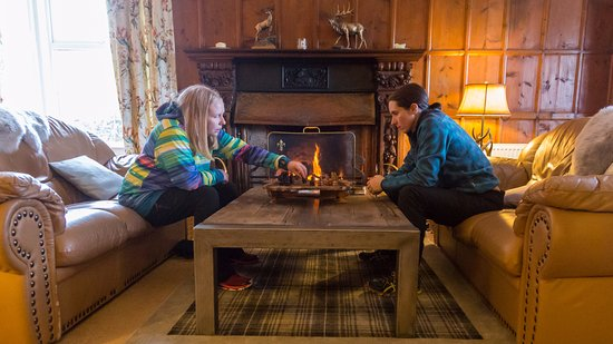 Edinbane, UK: Having a game of chess by the open fire