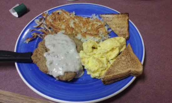 Brunswick, OH: Country Fried Steak, Eggs, Hash Browns, Toast