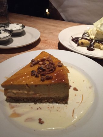 The White Chocolate Grill - Park Meadows: pumpkin cheesecake