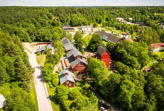 Fiskars, Suomi: Wedding venue the Threshing House from above