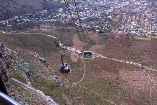 Table Mountain Aerial Cableway: View on way up