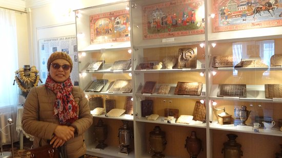Городец, Россия: У одного из стендов музея пряника