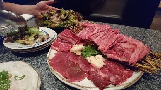 Ashiya, Ιαπωνία: たんしゃぶサラダ&肉セット