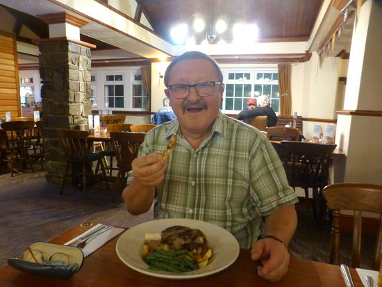 Gargrave, UK: Lamb dish and me