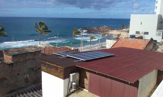 Barra, BA: Vista da cobertura, onde é servido o café da manhã. (pertíssimo da praia)