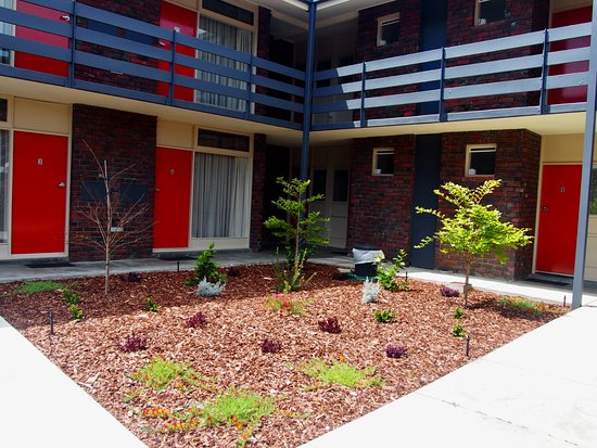 Kings Park Motel: Our new courtyard