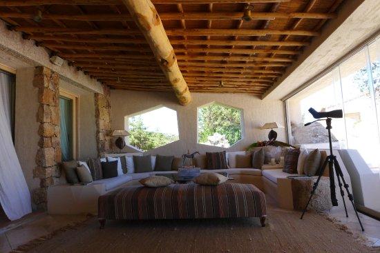 Petra Segreta Resort & Spa: Lounge mit Fernrohr