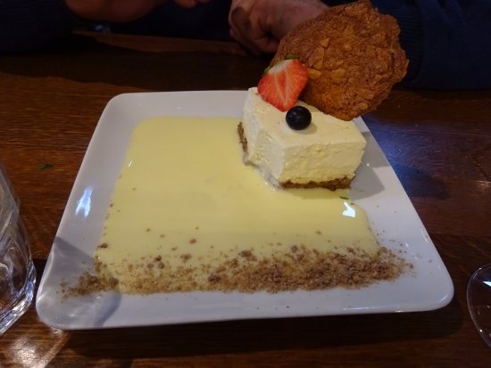 La Roche-Bernard, France: Cheese cake