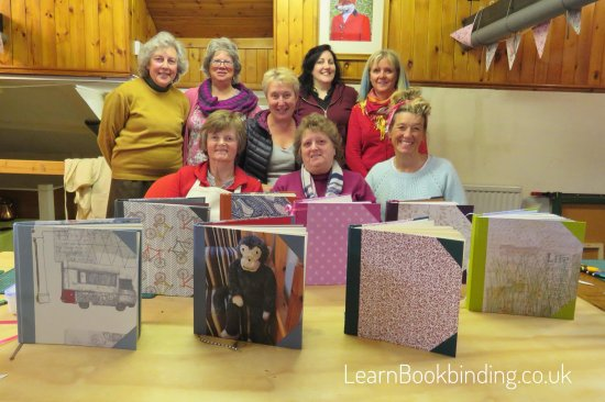 Barnstaple, UK: Custom sketchbooks all made in one day by complete bookbinding novices!