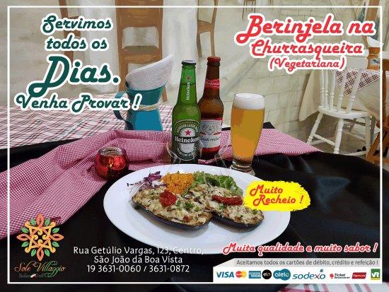 Sao Joao Da Boa Vista, SP: Berinjela na Churrasqueira (Vegetariana)