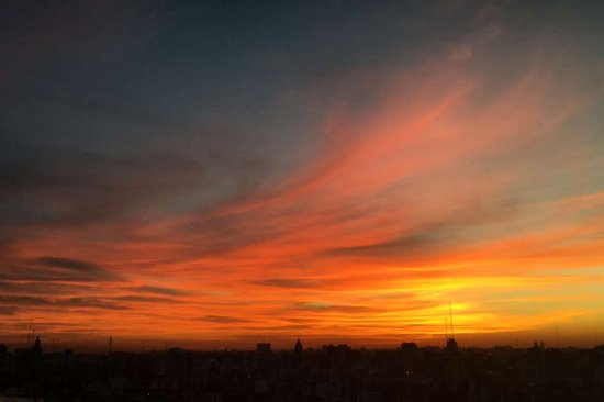 Panamericano Buenos Aires Hotel: Rooftop sunset