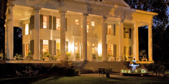 North Augusta, SC: Night View of Mansion Front