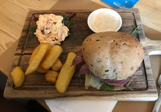 Sittingbourne, UK: Beef and Horseradish Roll