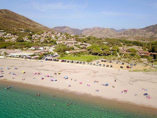 Appietto, Frankrike: Vue aérienne de l'hôtel Marina di Lava