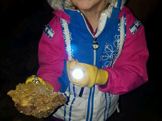 Georgetown, CO: Inside the mine holding high-grade gold ore.