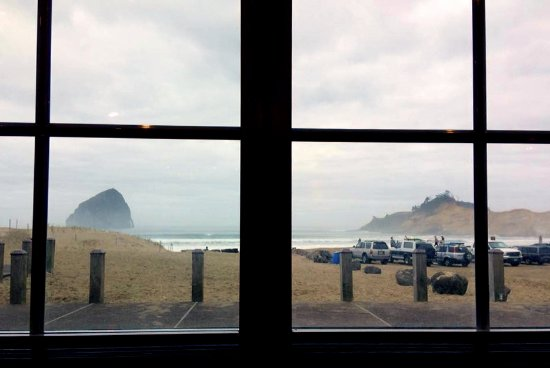 Pacific City, OR: View from my seat.