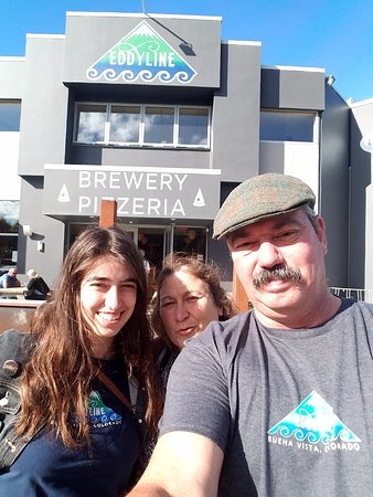 Richmond, New Zealand: Wearing our Eddyline Colorado shirts to New Zealand.