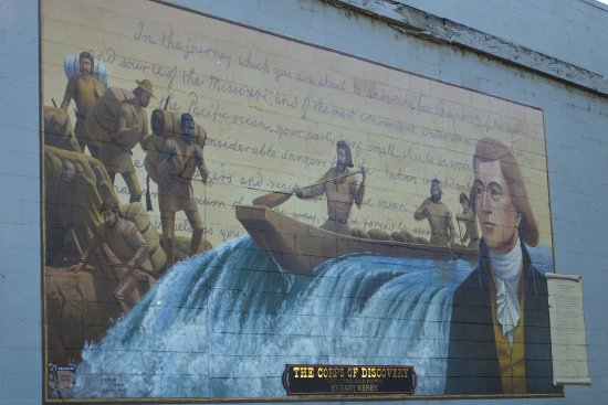 The Dalles, OR: The Corps of Discovery mural