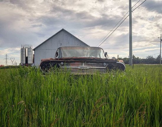 Bath, Canada: The 1960s impala is a fixture at this point.