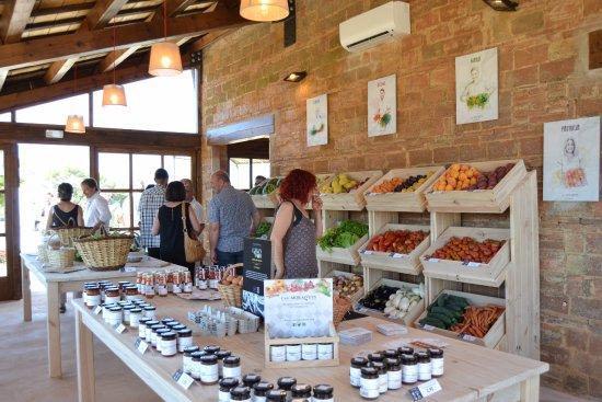 Riudarenes, España: Organic shop plenty of local varieties
