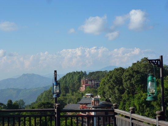 Bandipur, Νεπάλ: Blick von der Terrasse