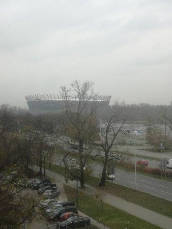 Ibis Budget Warszawa Centrum: stadion narodowy widok z okna