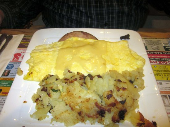 Bristol, PA: Swiss Cheese Omelet with Ham & Home Fries