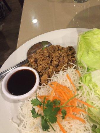 Benja Thai & Sushi: Lettuce wraps with Pork, very good
