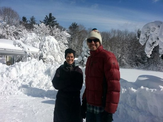 Abbey's Lantern Hill Inn: These guests got snowed-in and loved it!