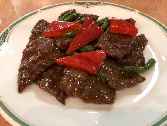 Kamisu, Japón: 牛肉のオイスター炒め。。やわらか~(*^。^*)