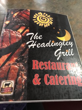 Menu cover, Headingley Grill 180 Bridge Rd | Headingly, Headingley, Manitoba