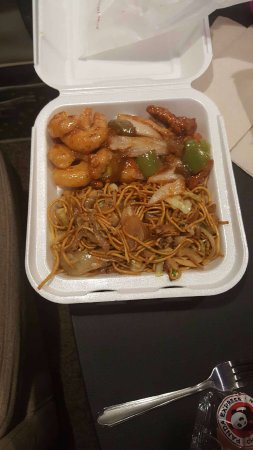 Logan, UT: chow mein, honey walnut shrimp, peking pork