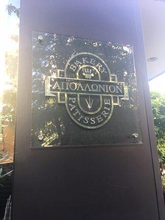 Apollonion Bakery - Kolonaki: Name of bakery.