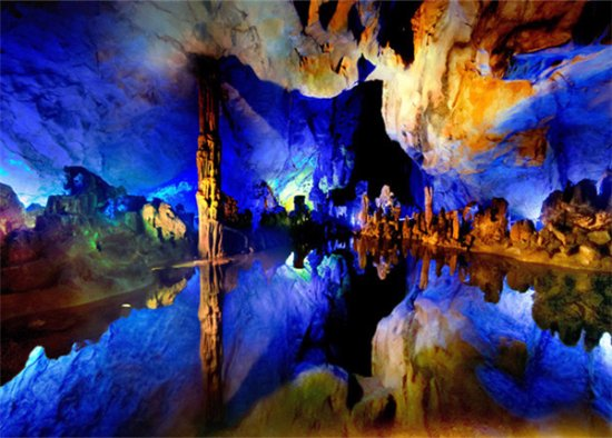 Guilin, Çin: Reed Flute Cave