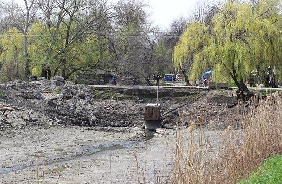Zaporizhzhya, Ucraina: Очистка пруда