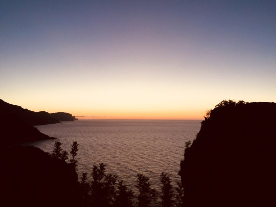 Banyalbufar, إسبانيا: Puesta de sol desde la Torre del Vergel