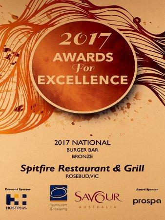 Rosebud, Australië: Bronze National -Award for Excellence - Burger Bar