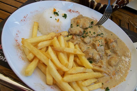 The Best Cafe: The Pork Cutlet with mustard sauce.