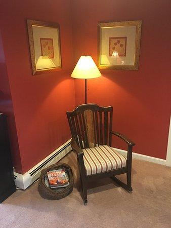 West Barnstable, MA: Comfy Armchair.