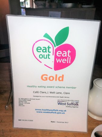 Clare, UK: They had just been awarded this whilst I had breakfast!