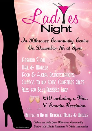 Kilmovee, Irland: Christmas Ladies Night Thursday 7th December 2017 - Please click on poster for full details.