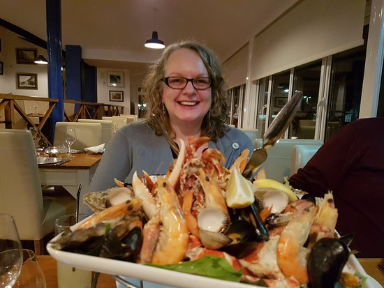 West Bay, UK: seafood platter for two and yes we ate every single last morsel!