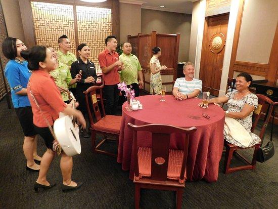 Nexus Resort & Spa Karambunai: surprise farewell songs by the staff