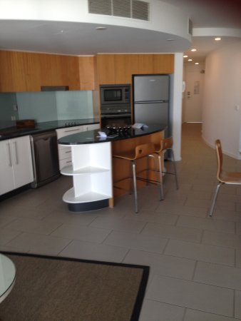 Rumba Beach Resort: Kitchen and entry