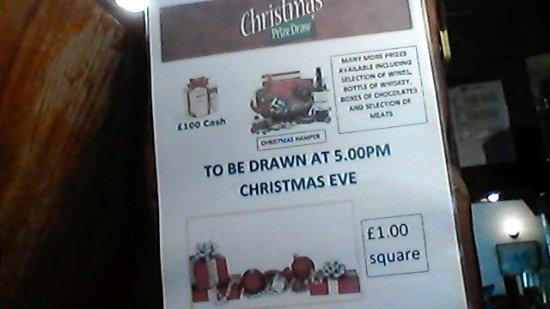 Somerton, UK: christmas draw