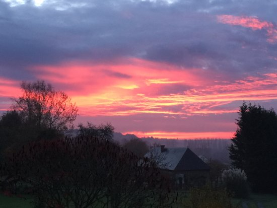 Bonneville-la-Louvet, France: sunrise from our bedroom window