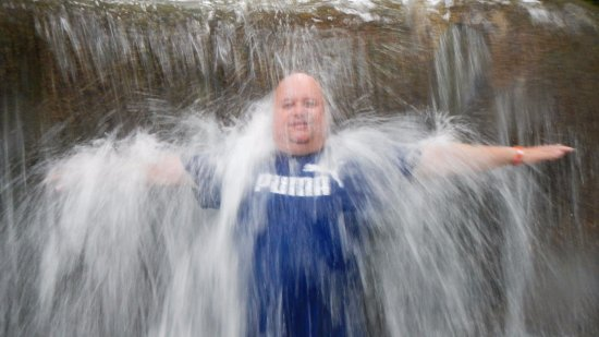 Dunn's River Falls and Park: Lekkere koele verfrissing, de temp. van het water viel best mee, ik had het veel kouder verwacht